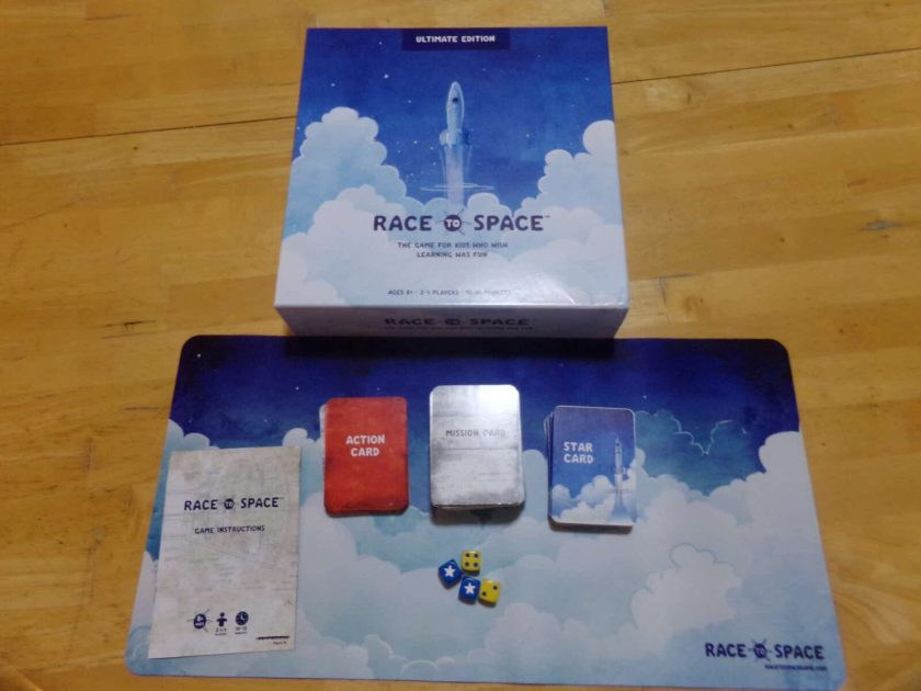 Race To Space Educational Board Game