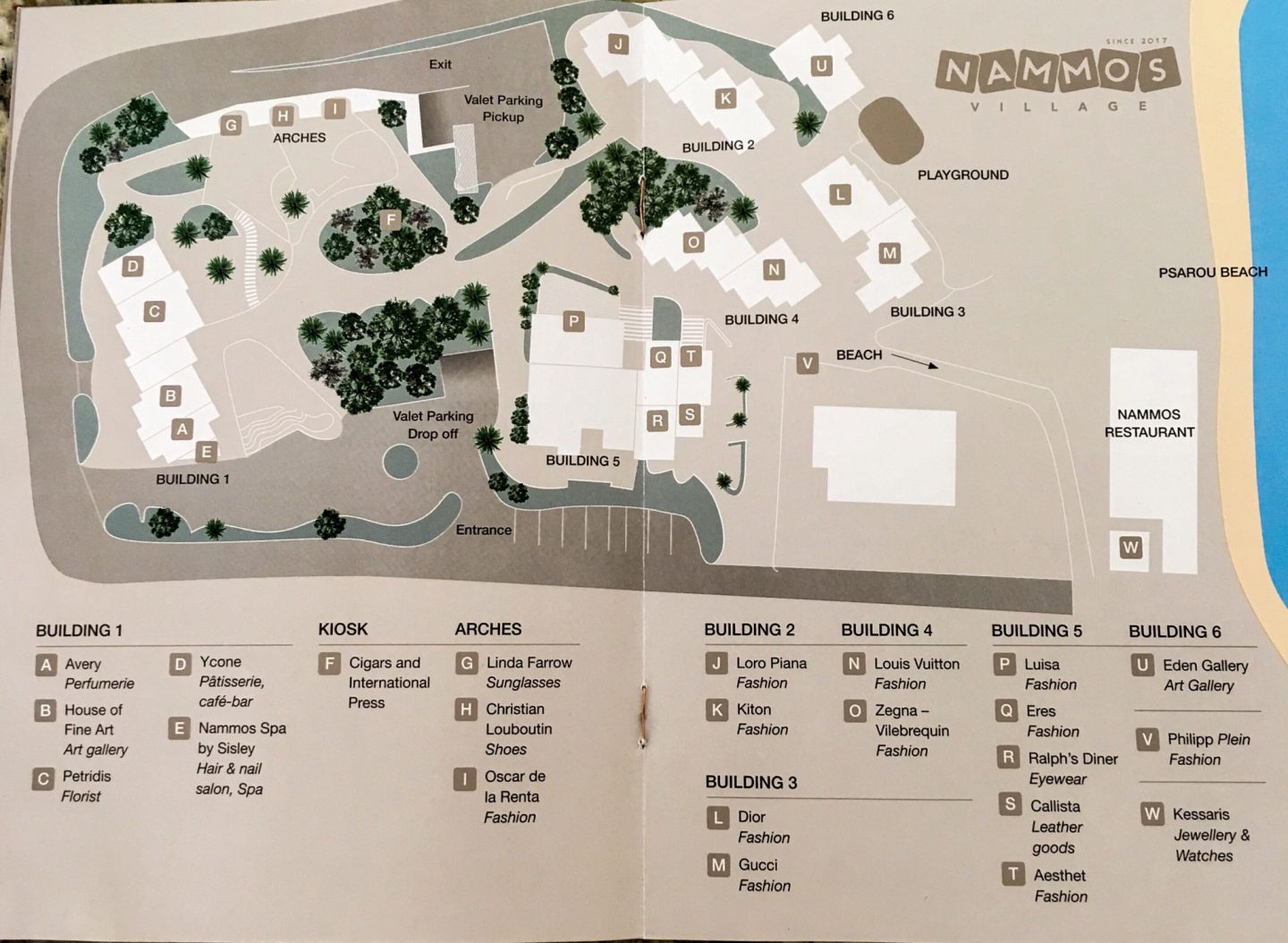 NAMMOS VILLAGE MAP