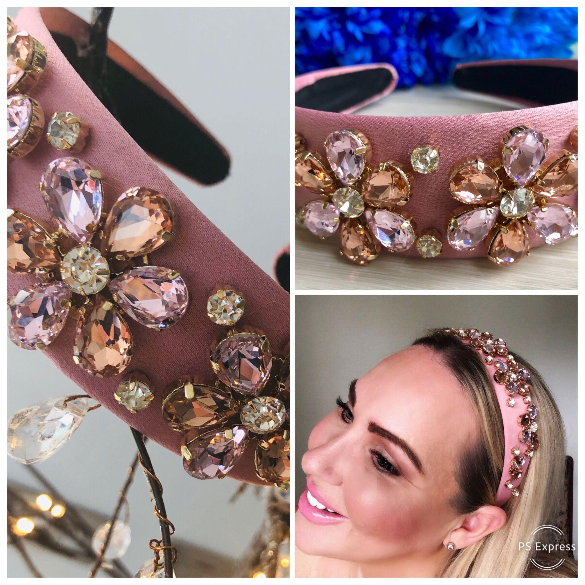pink diamond princess headband
