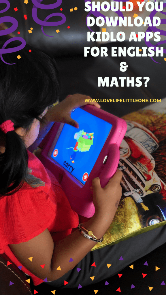 Kidlo app for kids english & maths