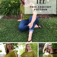 Tie Sleeve Tee - Free Crochet Pattern