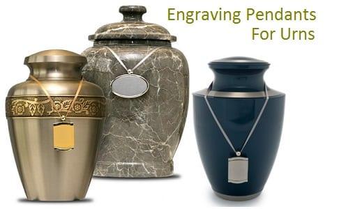 Engraving Pendants For Urns