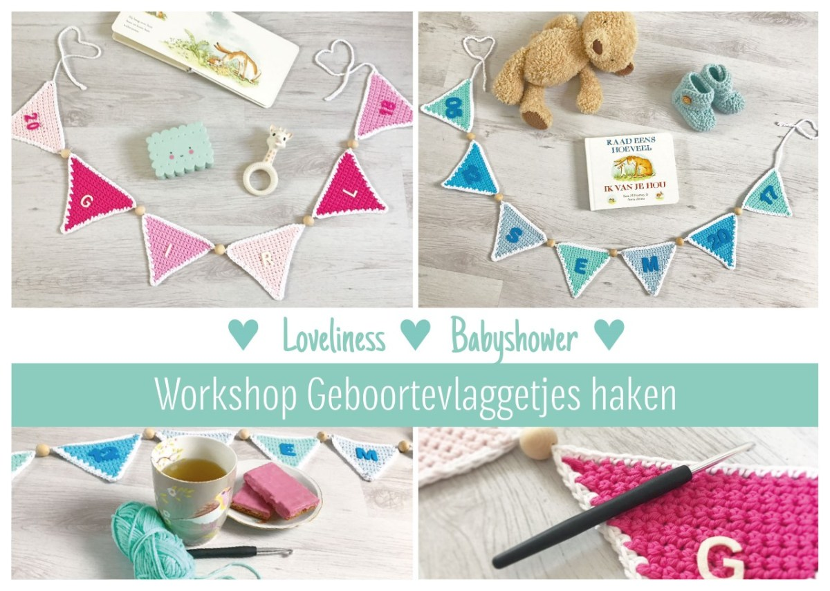 Workshop Geboortevlaggetjes haken (babyshower)