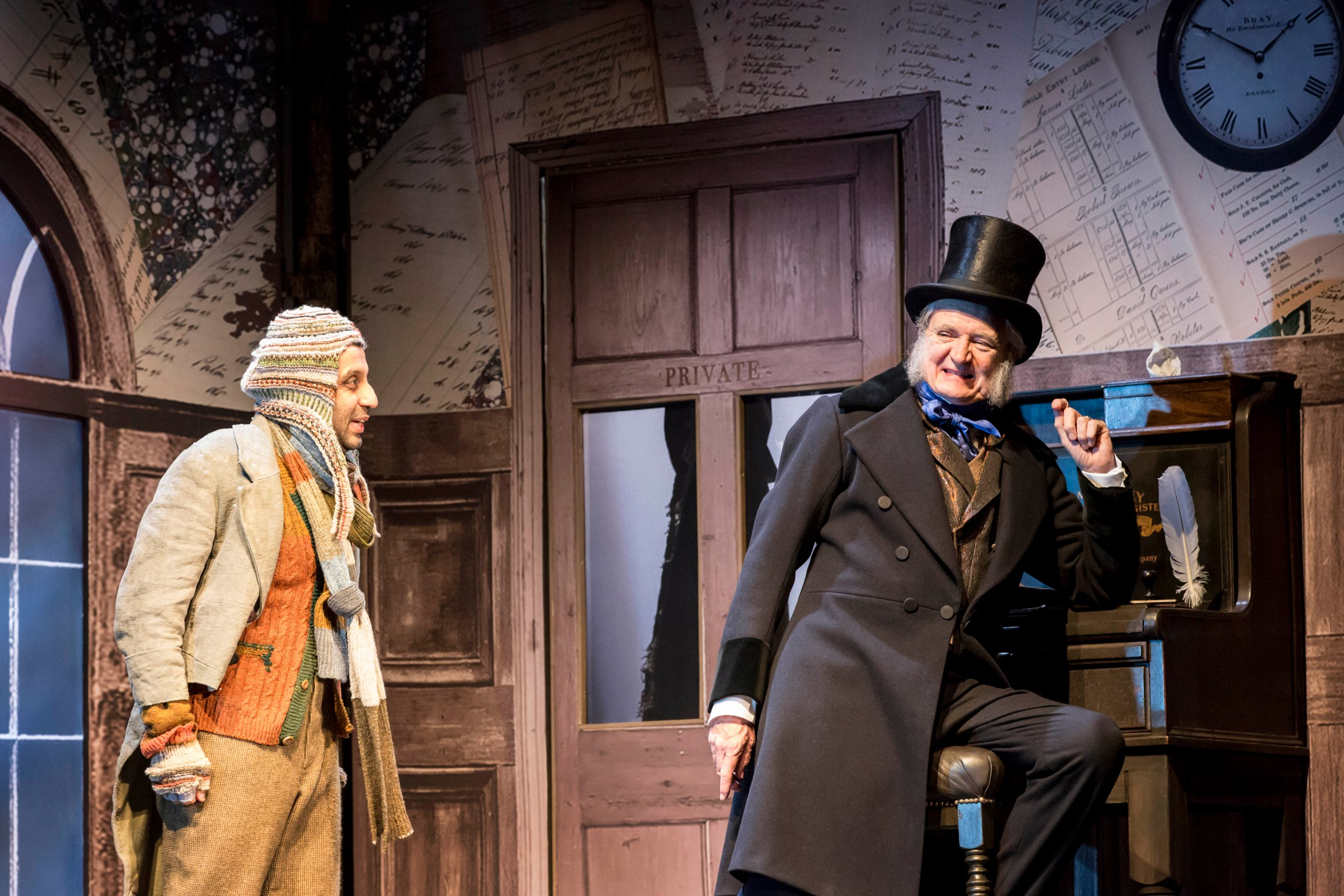 Jim Broadbent and Adeel Akhtar in A Christmas Carol. Credit Johan Persson.jpg.jpg