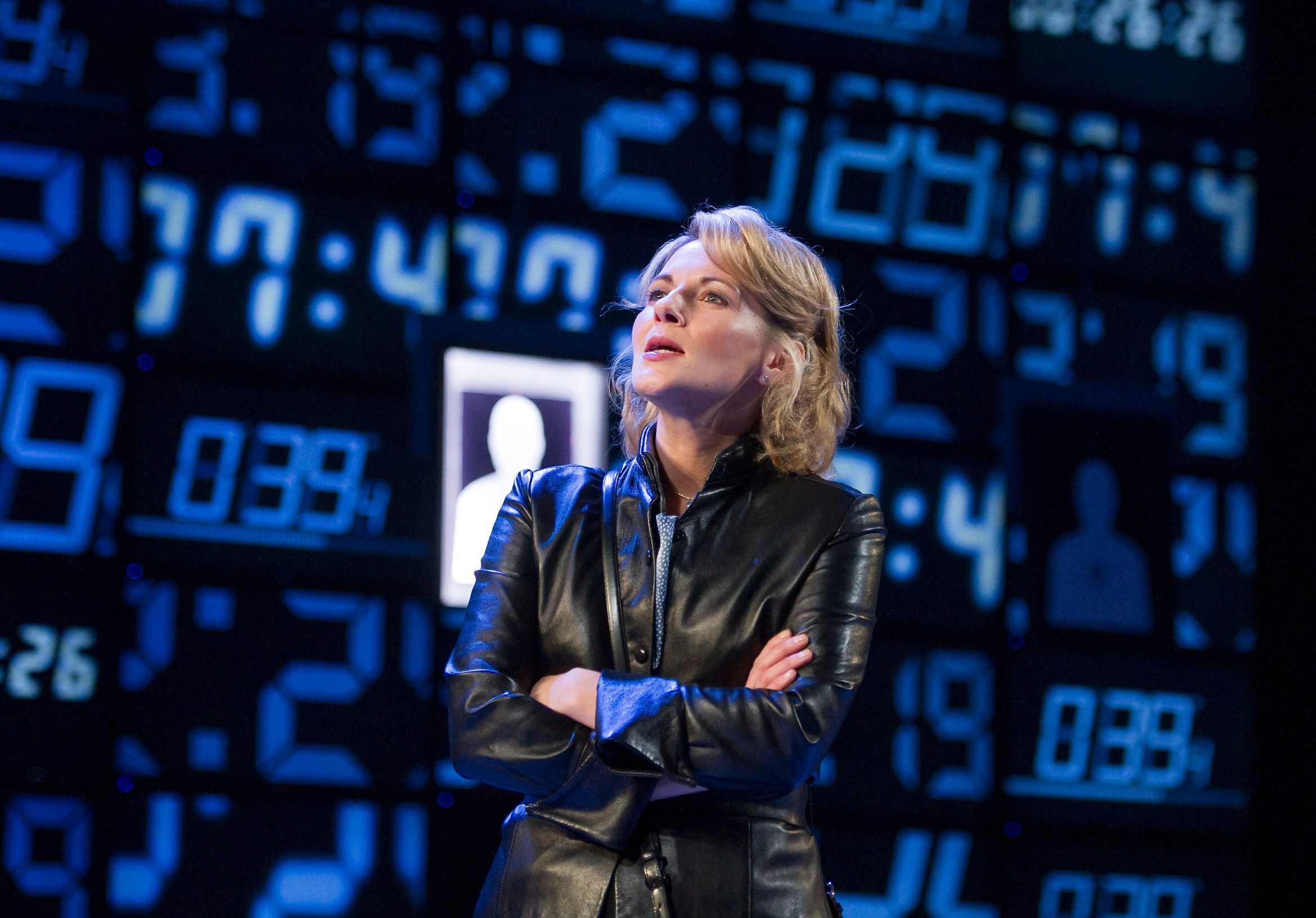 'Hapgood' Play by Tom Stoppard performed at the Hampstead Theatre, London, UK