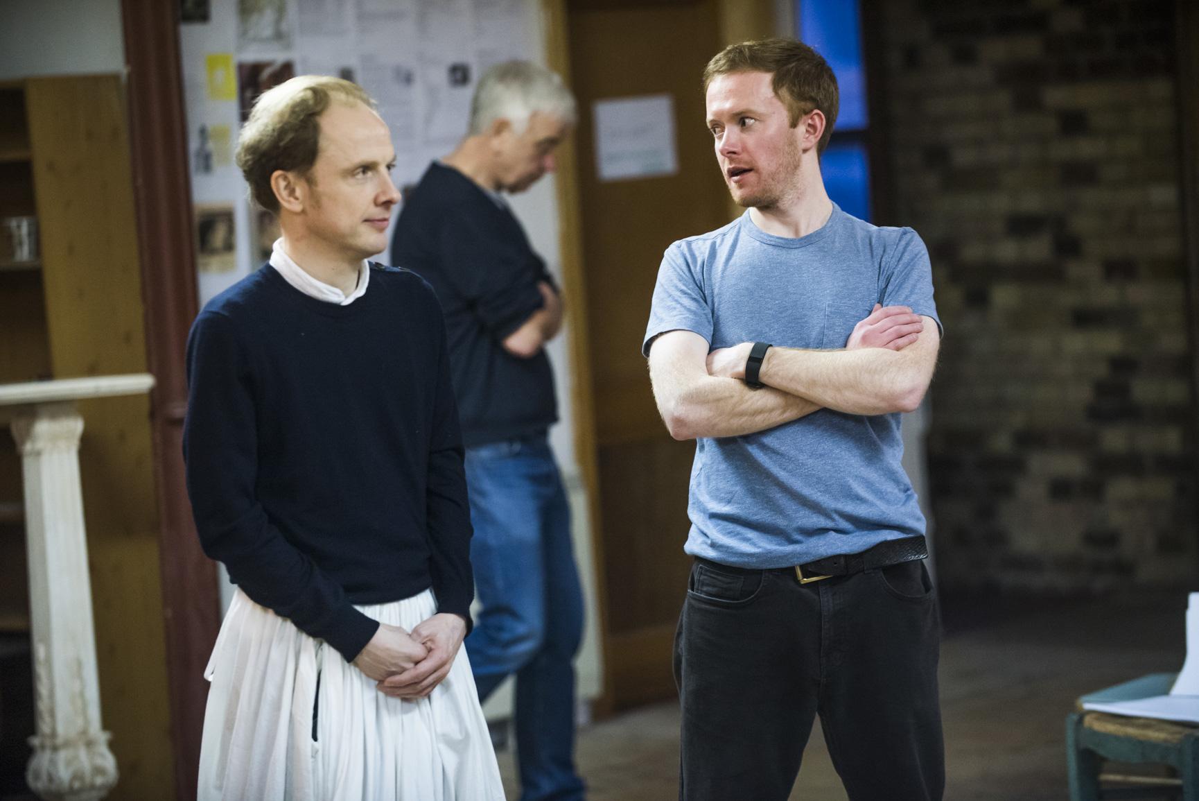 Greg Haiste (Edward Kynaston) and Peter McGovern (Ned Spigget) in Nell Gwynn. Photos by Tristram Kenton..jpg