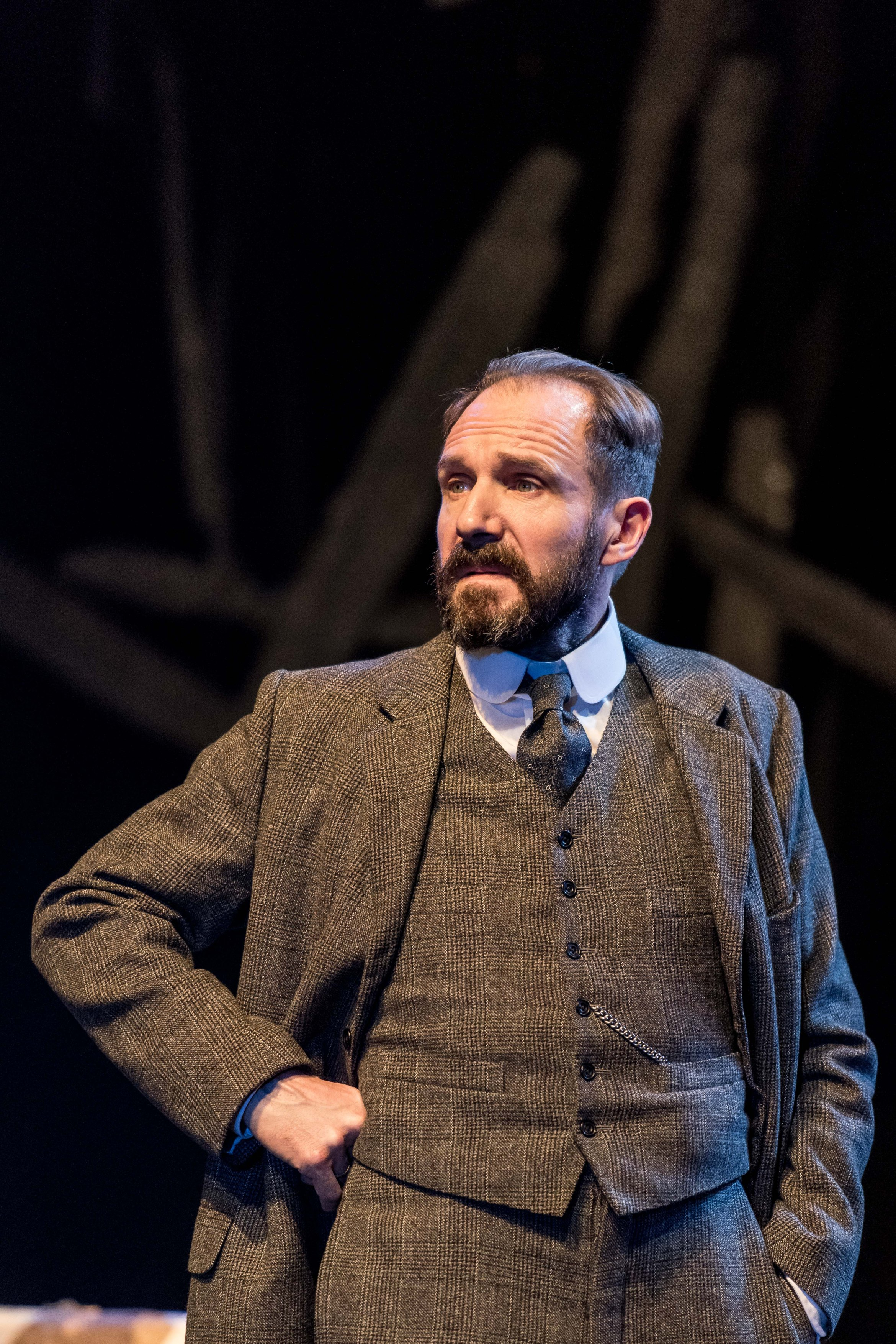 Ralph Fiennes (Halvard Solness) in The Master Builder at The Old Vic. Photos by Manuel Harlan. (1)