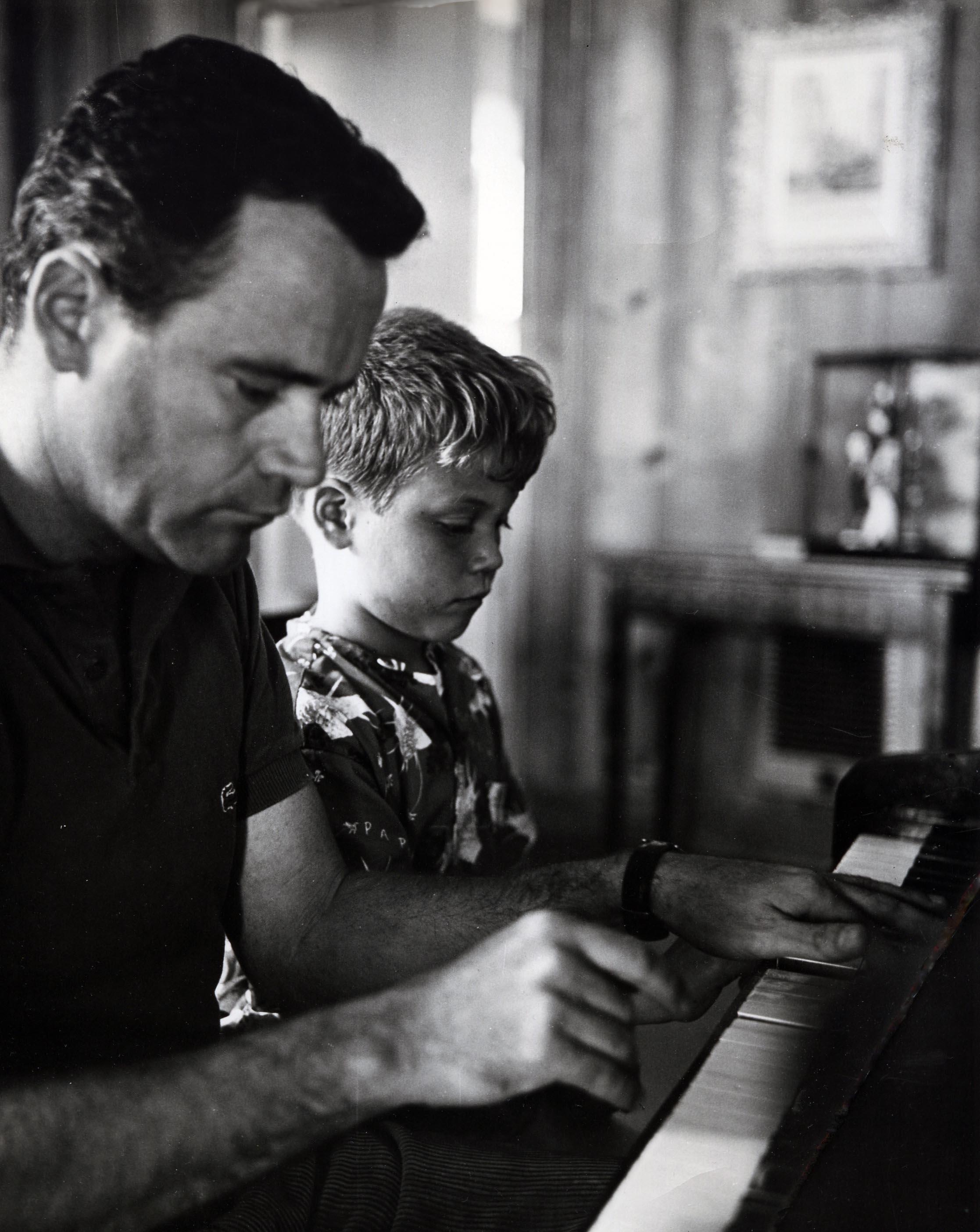 Jack Lemnmon with his son Chris