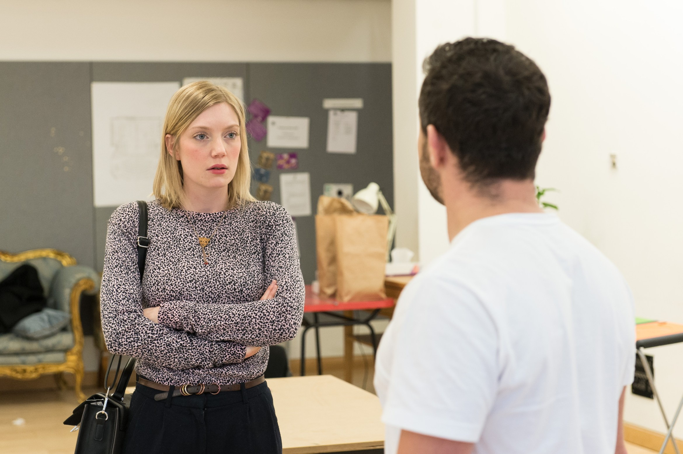 Robyn Addison (Carly) and Warren Brown (Kent) in Reasons to be Happy at Hampstead Theatre. Photos by Manuel Harlan..jpg