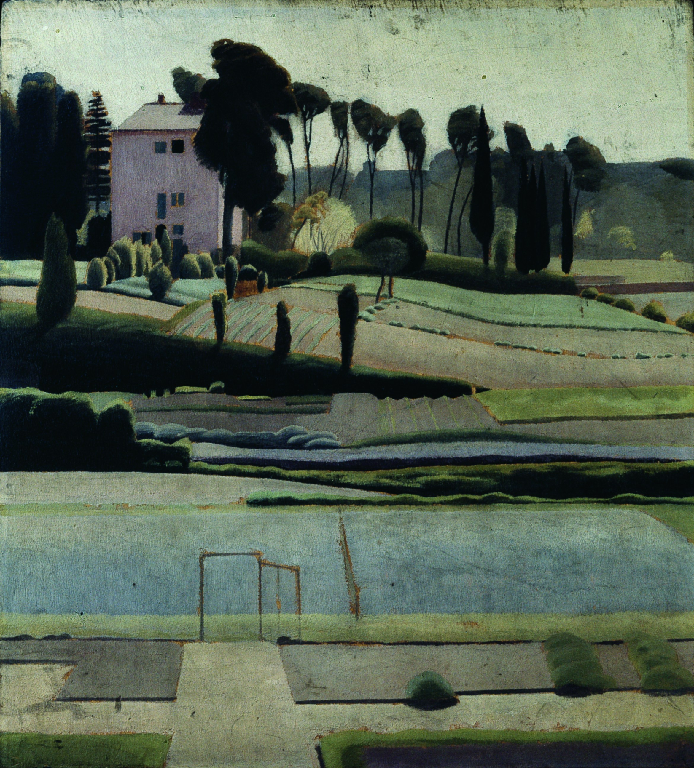 Winifred Knights, A view to the east from the British School at Rome, 1921