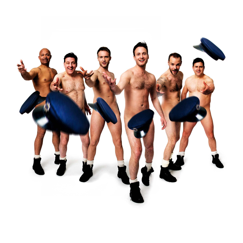 Louis Emerick, Andrew Dunn, Chris Fountain, Gary Lucy, Joe Absolom, Kai Owen in THE FULL MONTY credit Matt Crockett