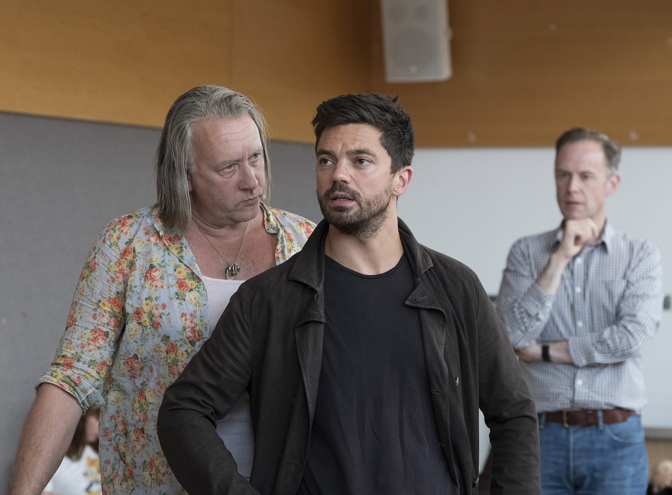 Jasper Britton, Dominic Cooper and Richard Teverson in rehearsals for The Libertine. Credit Alastair Muir.jpg.jpg