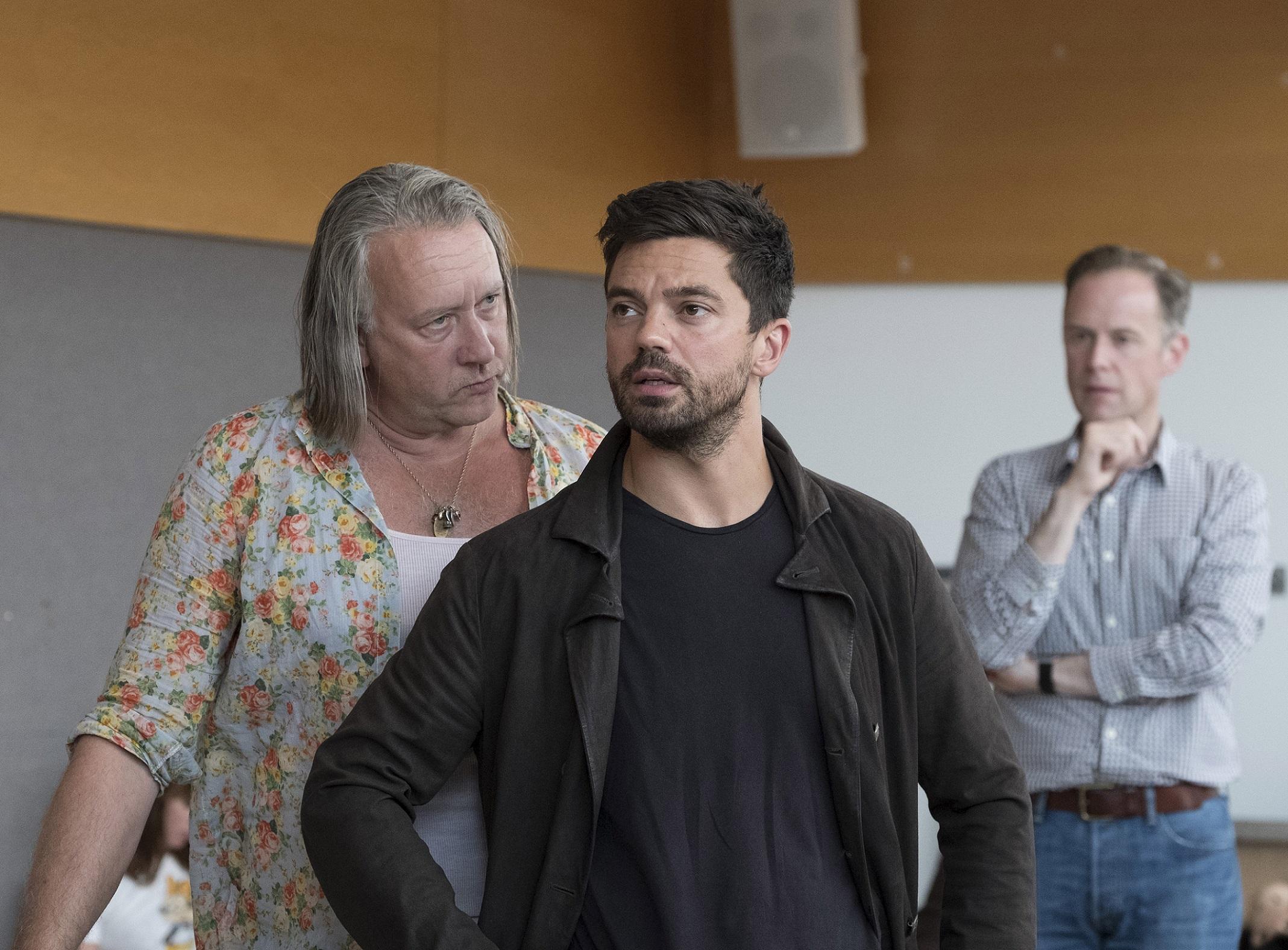 Jasper Britton, Dominic Cooper and Richard Teverson in rehearsals for The Libertine. Credit Alastair Muir.jpg.jpg