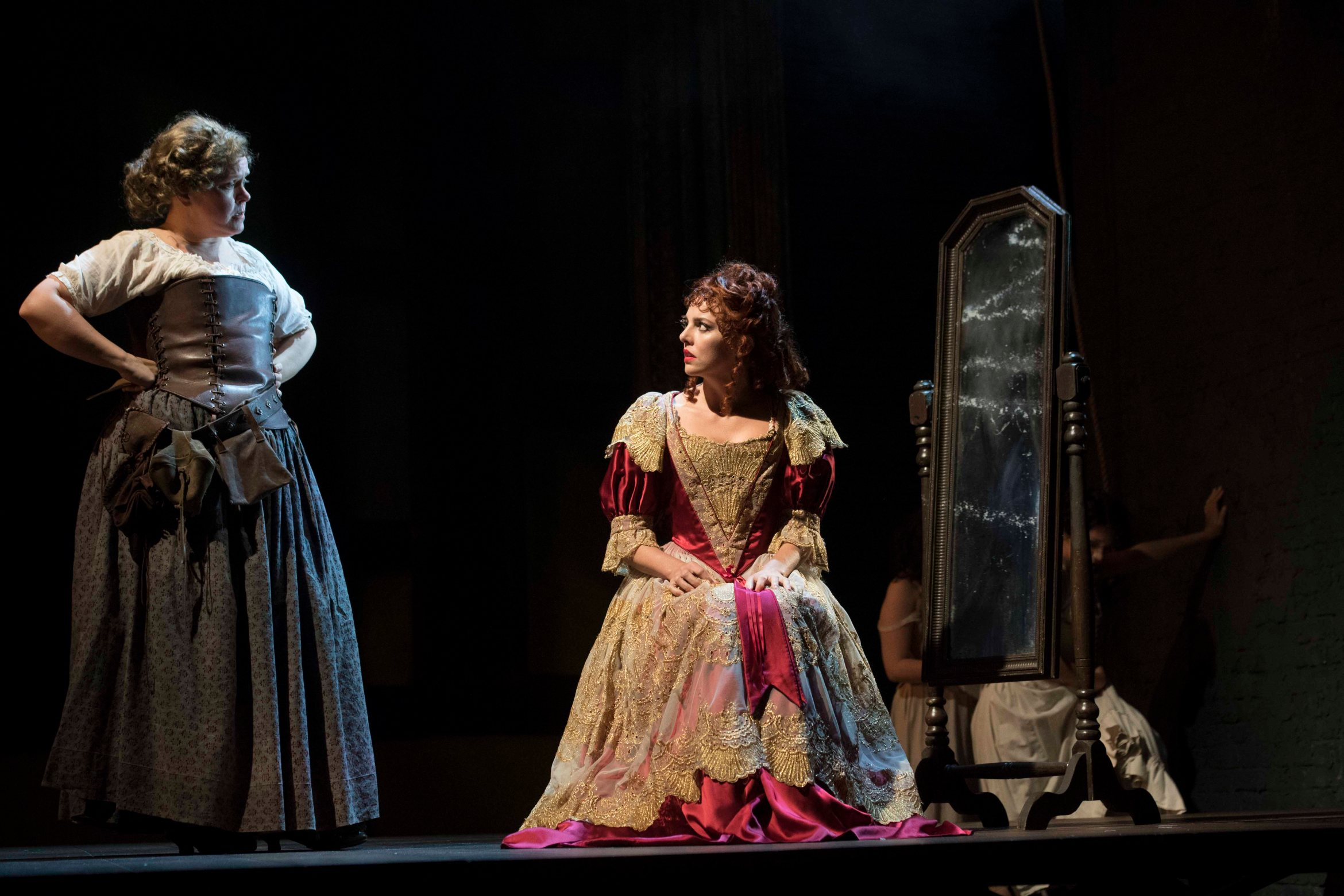 Lizzie Roper and Ophelia Lovibond in The Libertine. Credit Alastair Muir.jpg.jpg