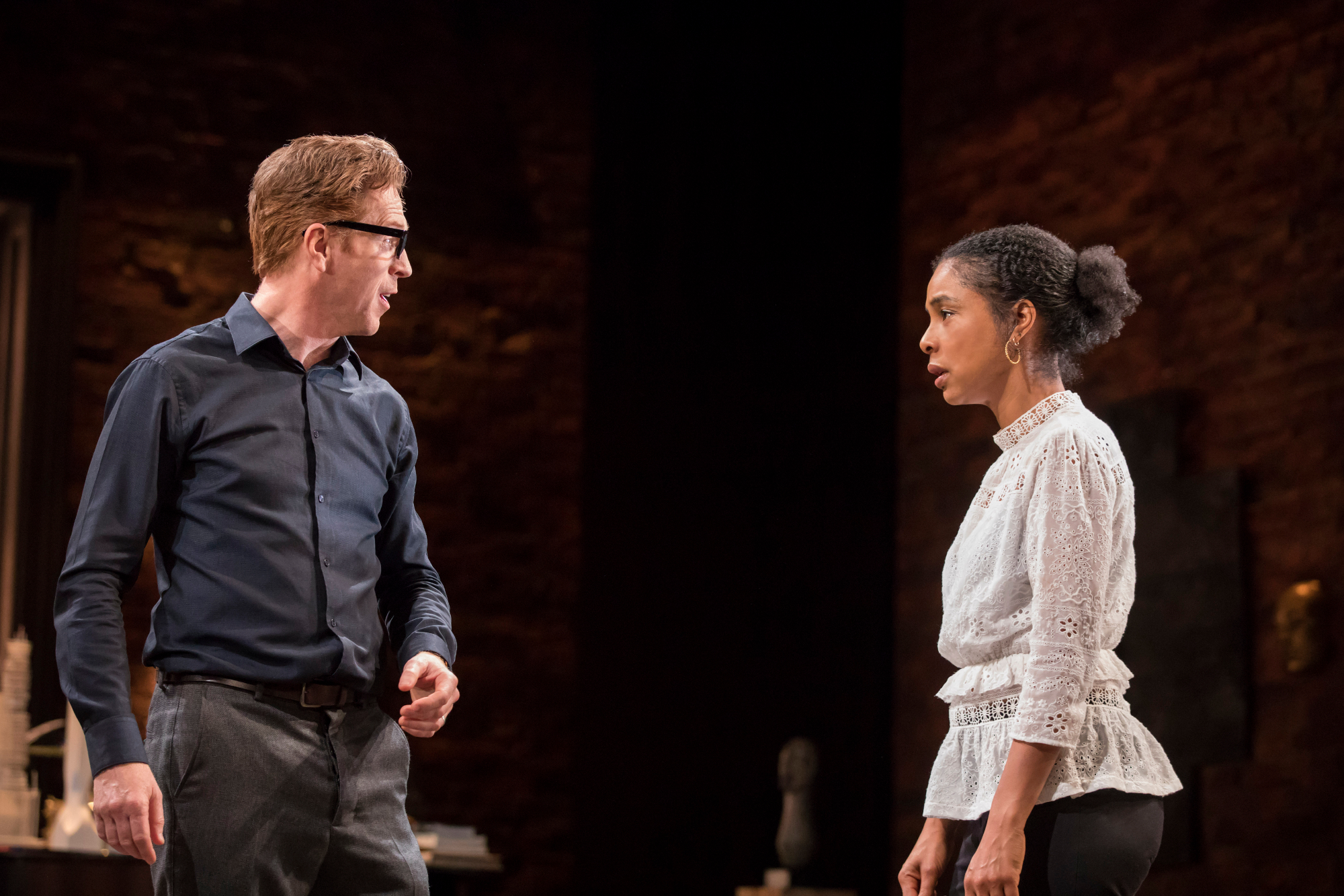 Edward Albee's The Goat, Or Who Is Sylvia - Damian Lewis (Martin), Sophie Okonedo (Stevie) Credit Johan Persson 01083