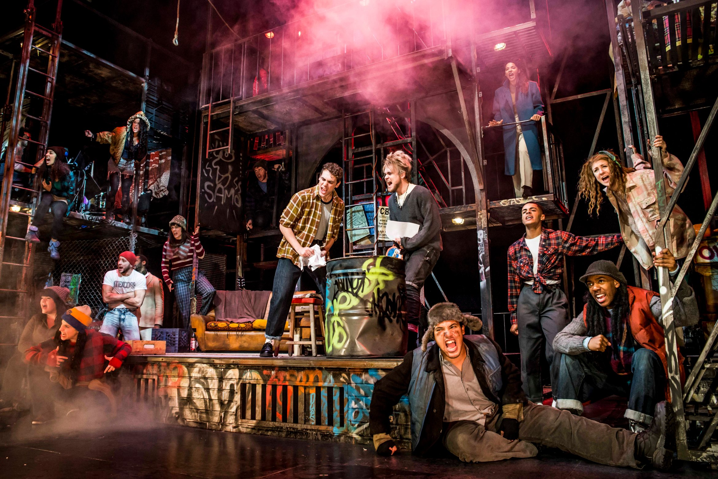 The cast of RENT. Credit Matt Crockett