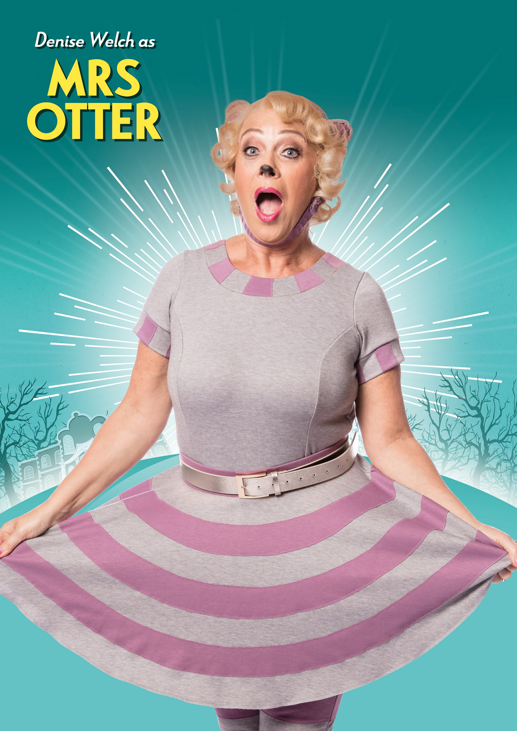 Denise Welch as Mrs Otter in The Wind in the Willows Credit Darren Bell