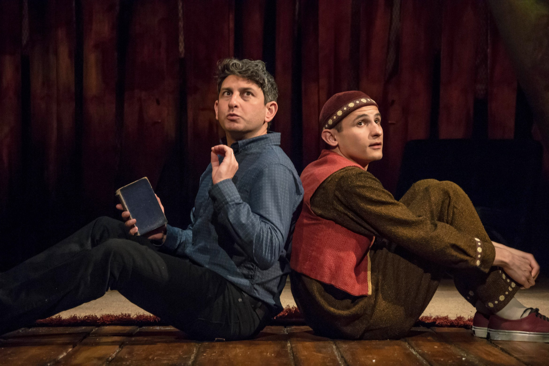 The Kite Runner Playhouse Theatre Amir (David Ahmad) Hassan (Andrei Costin) Photo Irina Chira