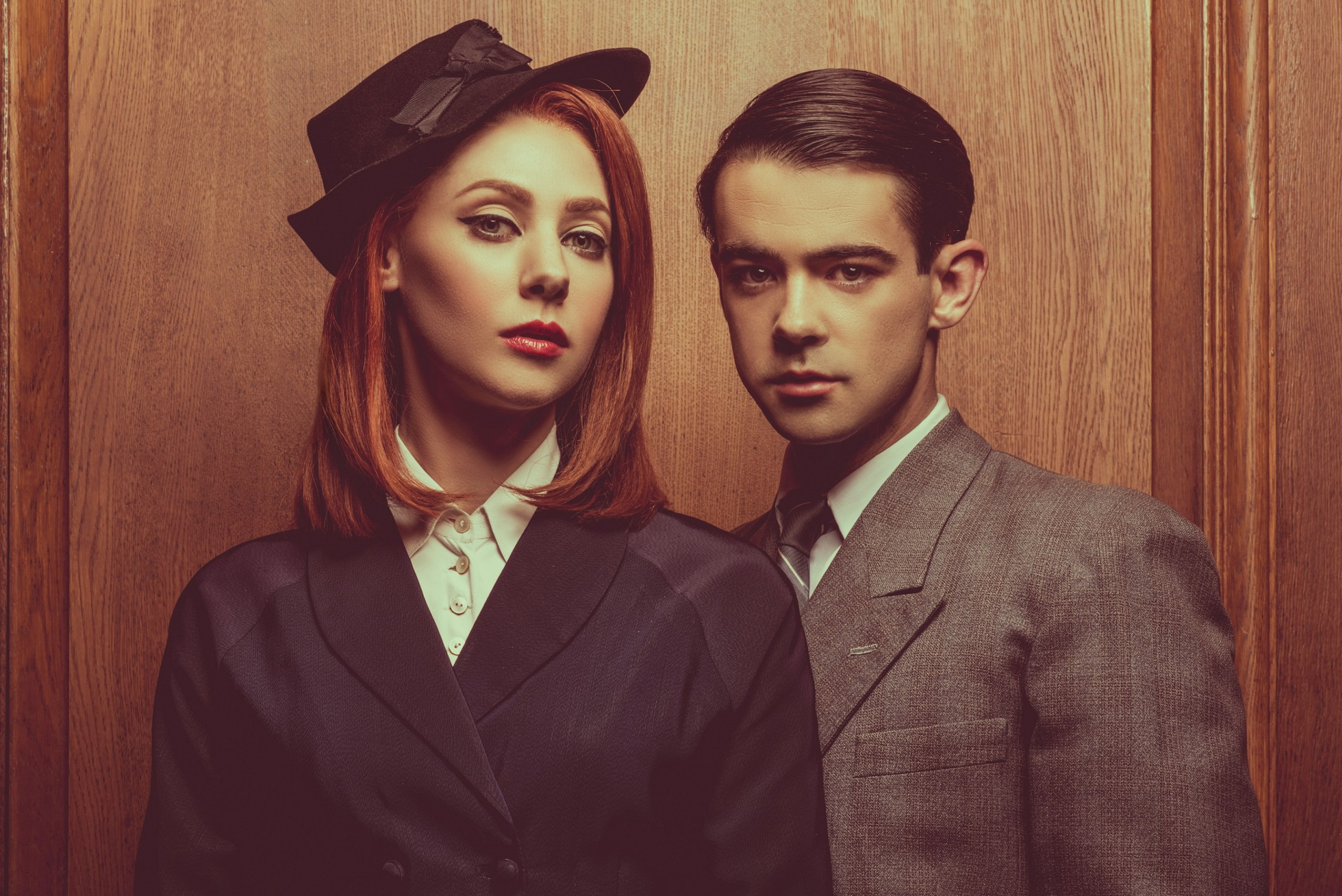Catherine Steadman as Romaine Vole and Jack McMullen as Leonard Vole in Witness for the Prosecution photo by Idil Sukan.jpg