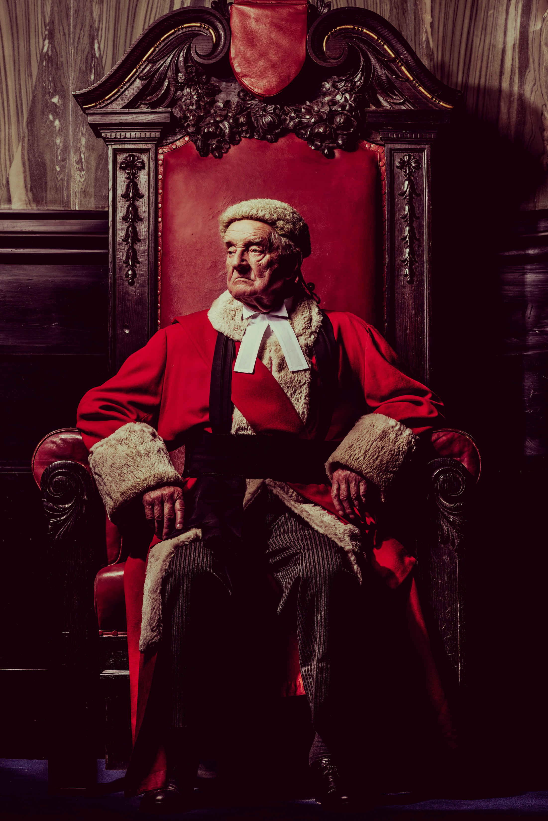 Patrick Godfrey as Mr Justice Wainwright in Witness for the Prosecution photo by Idil Sukan.jpg