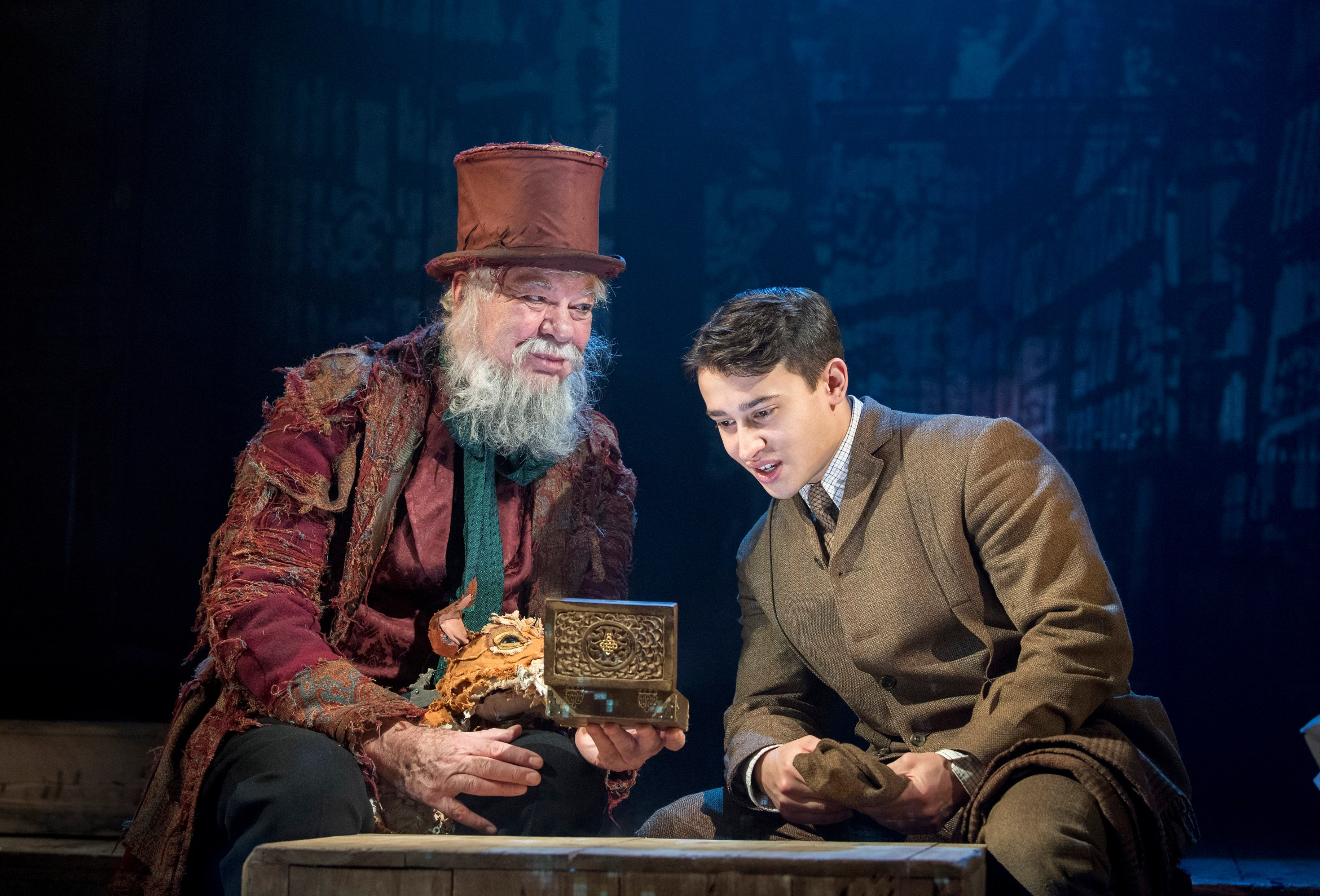 L - R Matthew Kelly and Alistair Toovey star in The Box of Delights at Wilton's Music Hall (2).jpg