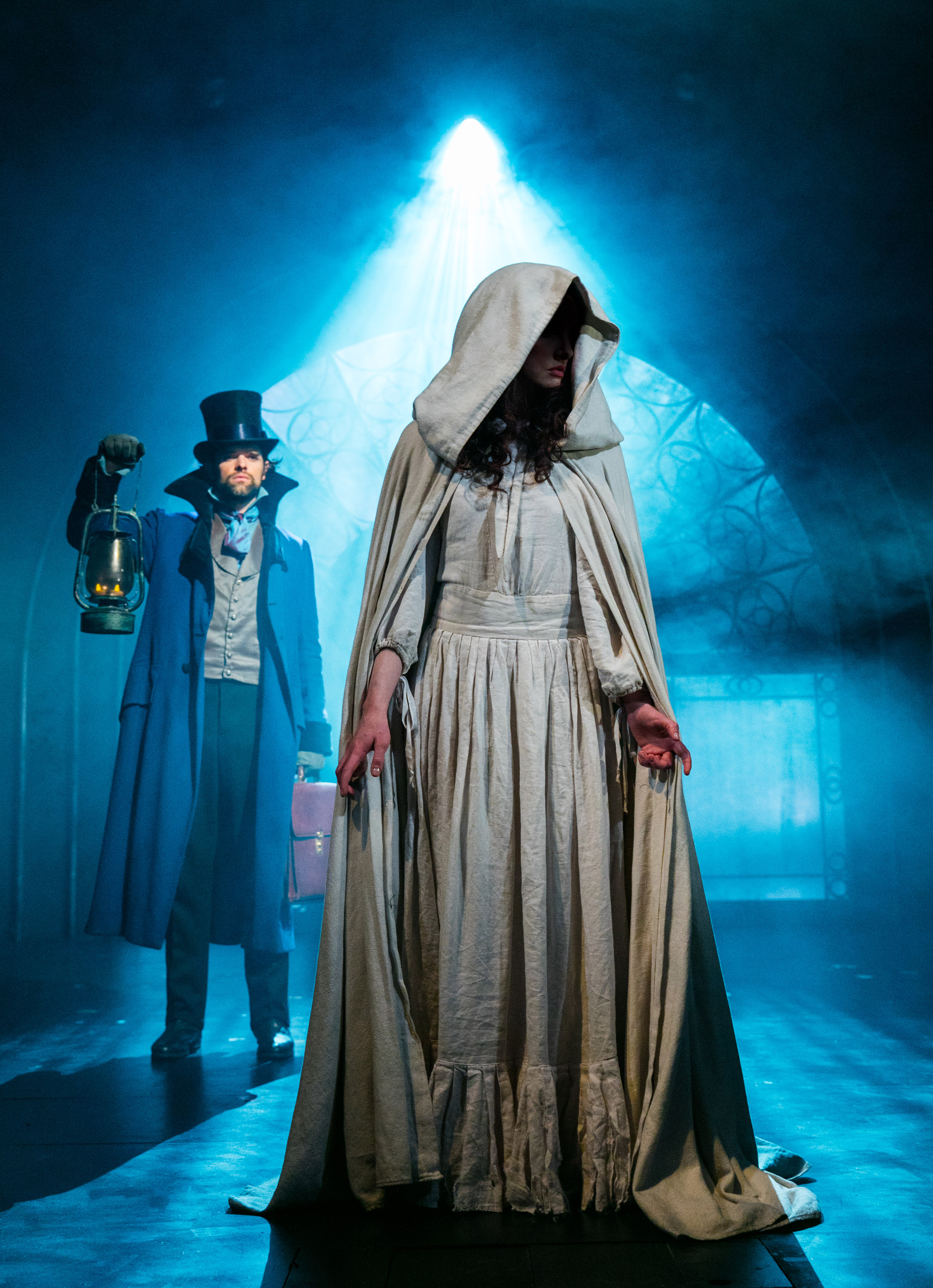 The Woman in White Chris Peluso (Sir Percival Glyde) encounters The Woman in White Photo Darren Bell