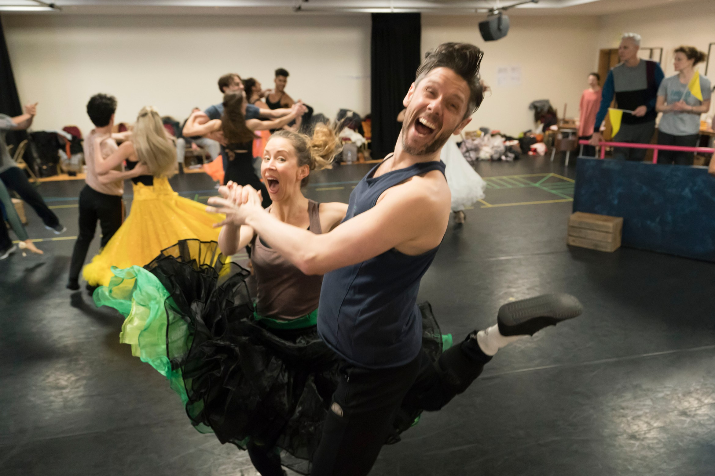 The cast of Strictly Ballroom The Musical in rehearsals. Photo by Johan Persson_02386.jpg