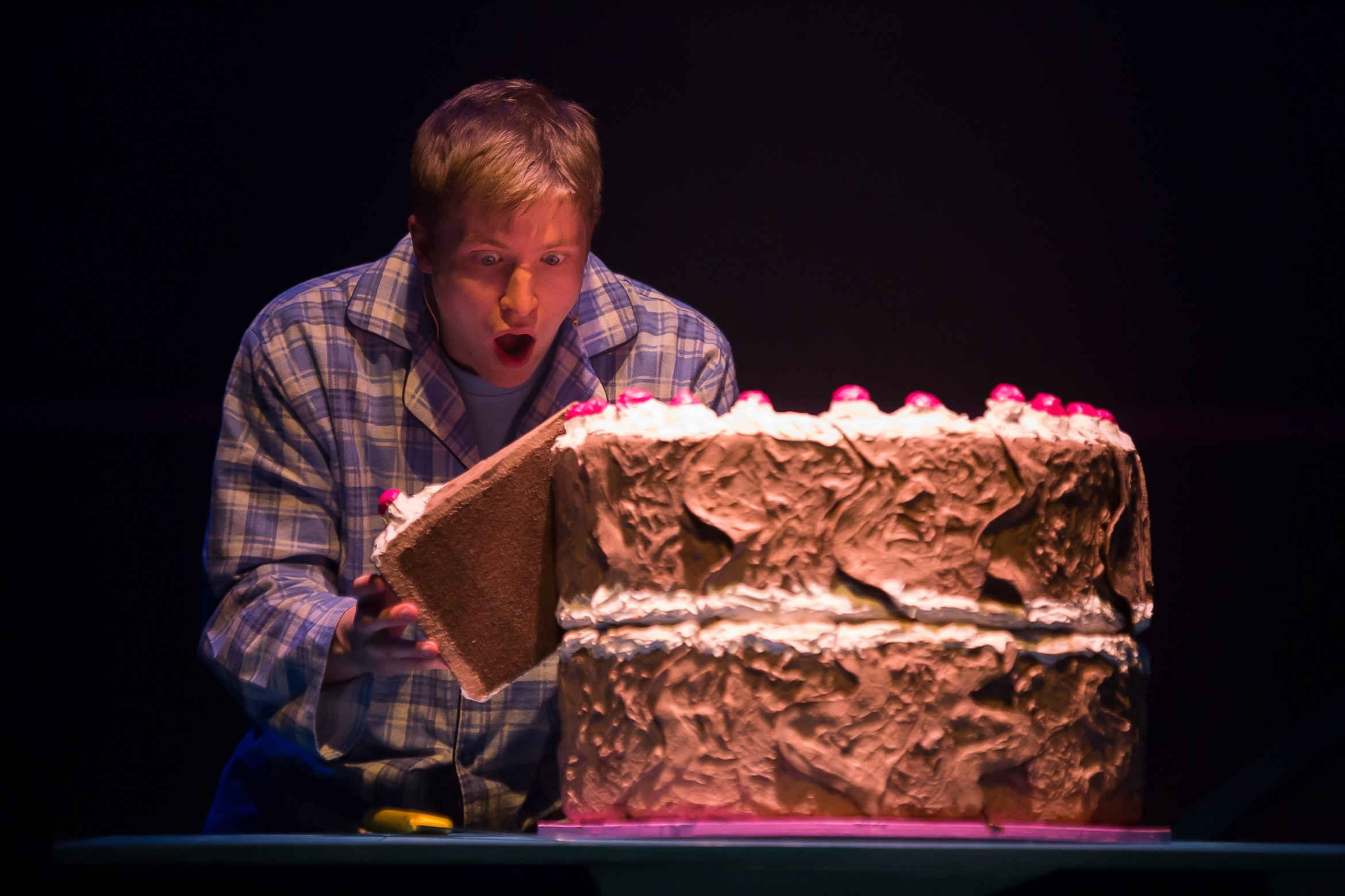 Chocolate Cake at Polka Theatre. Mark Houston (Michael). Credit Ellie Kurttz.JPG