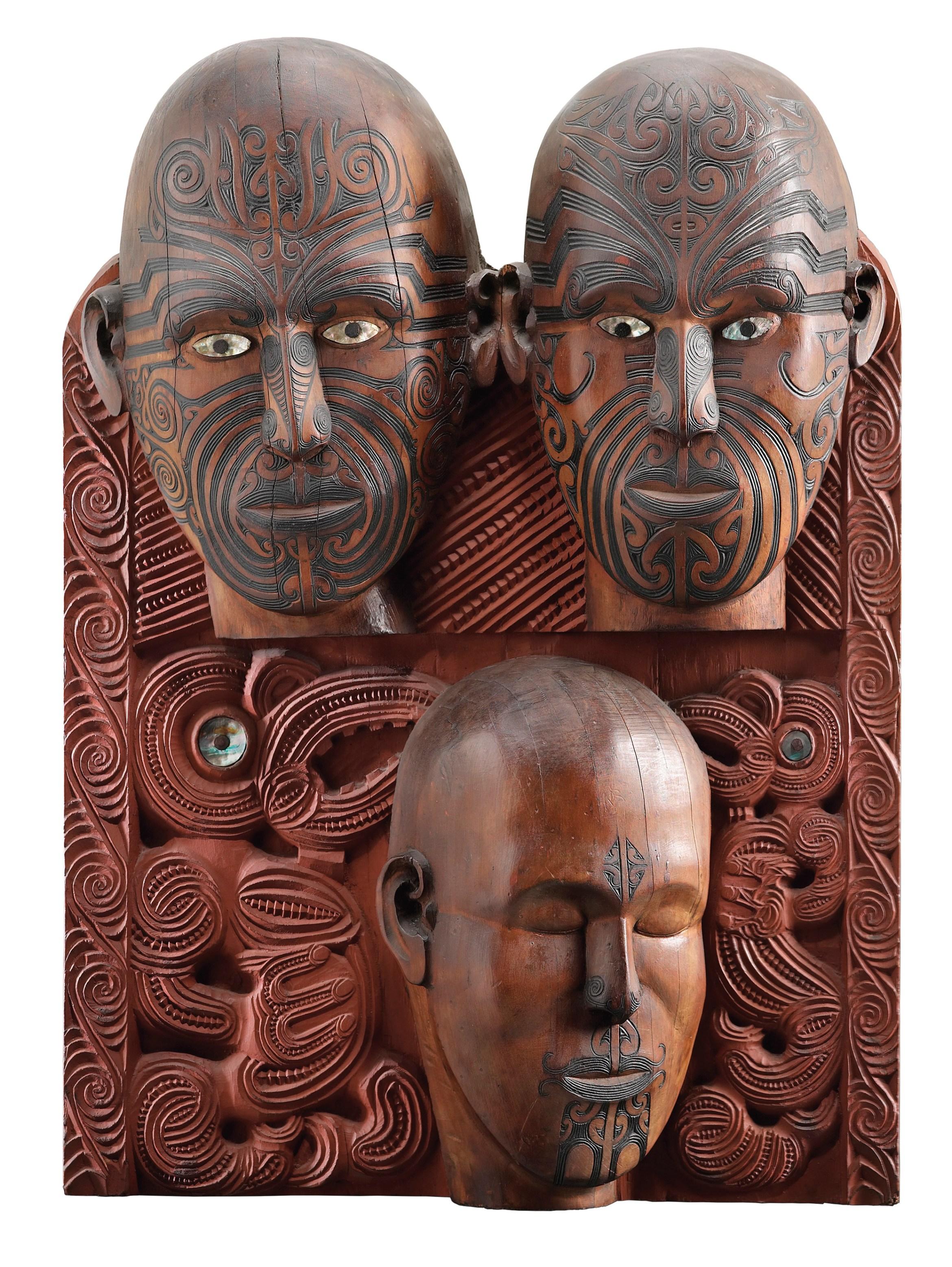 Oceania_Tene Waitere, Ta Moko panel, 1896-99