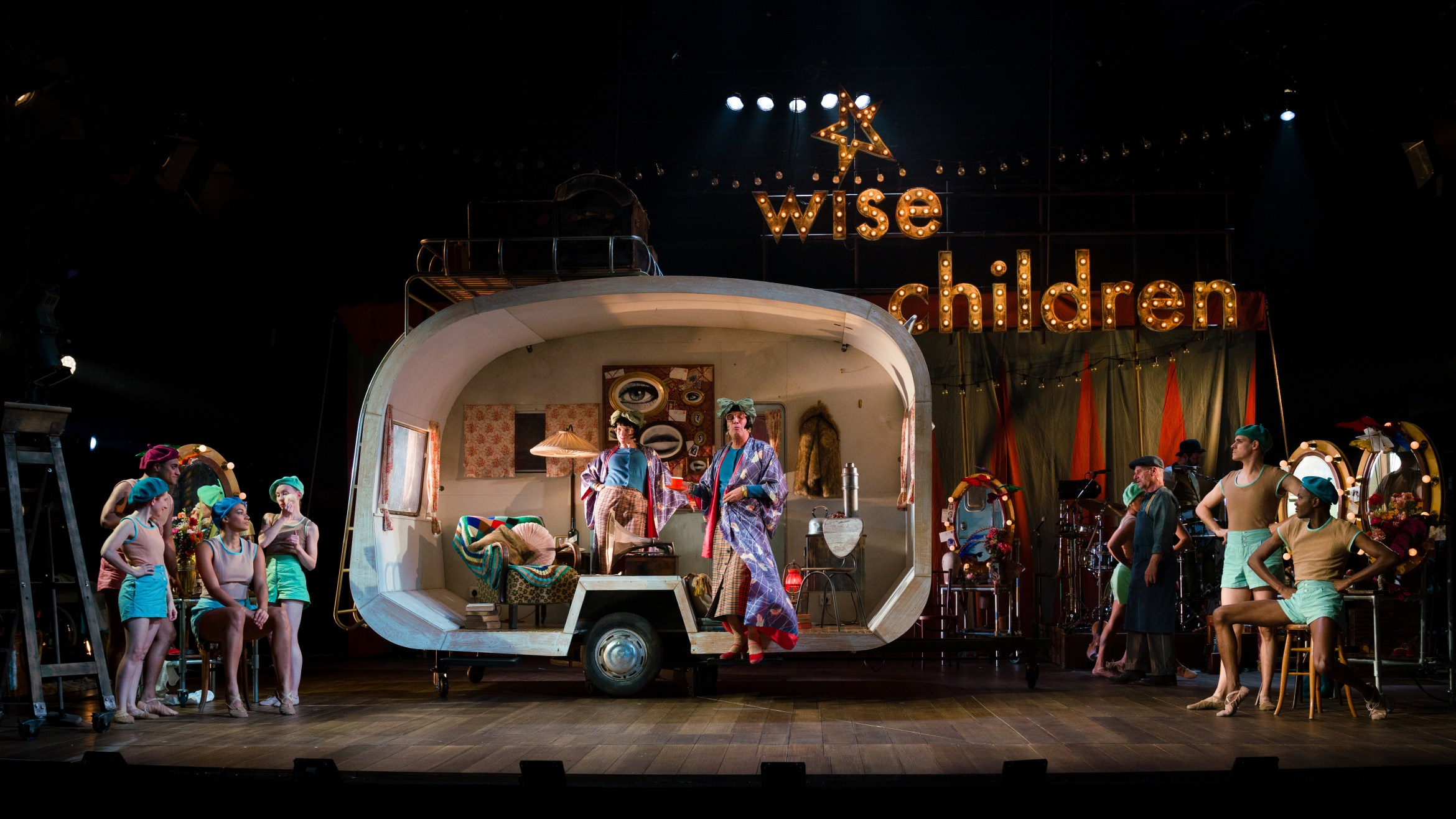 The cast of Wise Children at The Old Vic. Photo by Steve Tanner