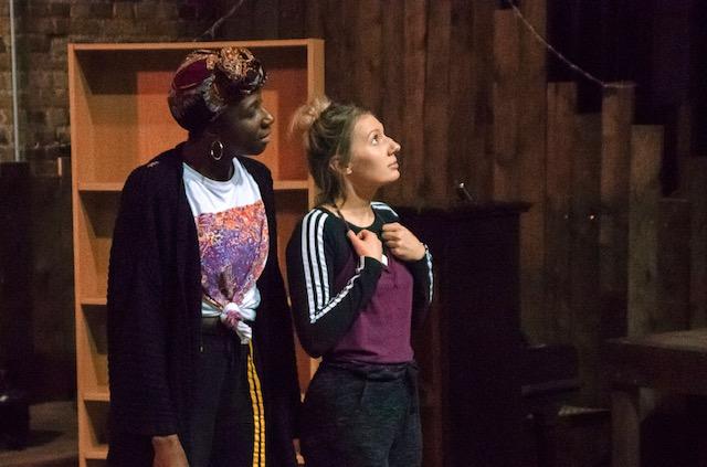 Danielle Kassarate (Narrator) and Bronté Barbé (The Little Match Girl) (c)Hope Baxter