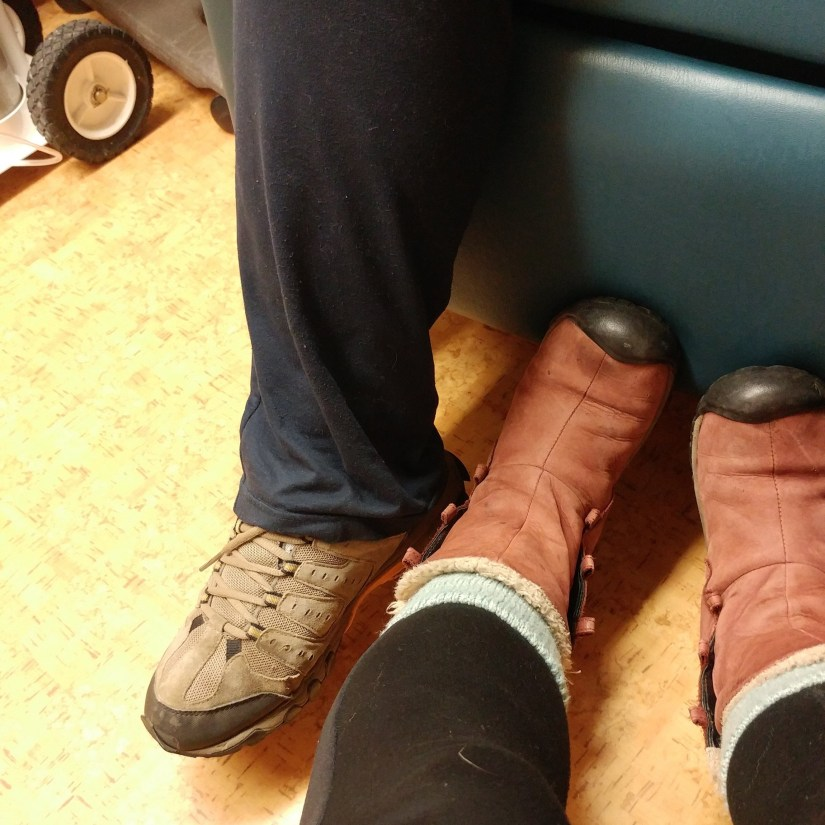 Feet in a Waiting Room. Unwifedmotherexpletive