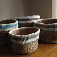 Crochet baskets now on Folksy!