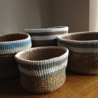Crochet baskets now on Folksy!