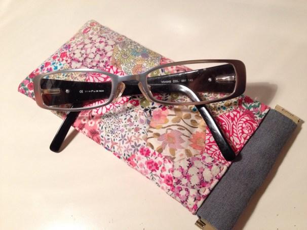 Liberty hexie glasses case