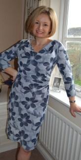 Burda syle Cowl Dress 102012