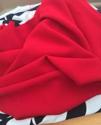heavy red crepe