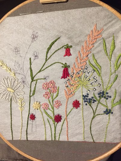 Flower meadow embroidery