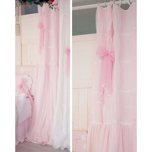 Pink Ruffle Curtain
