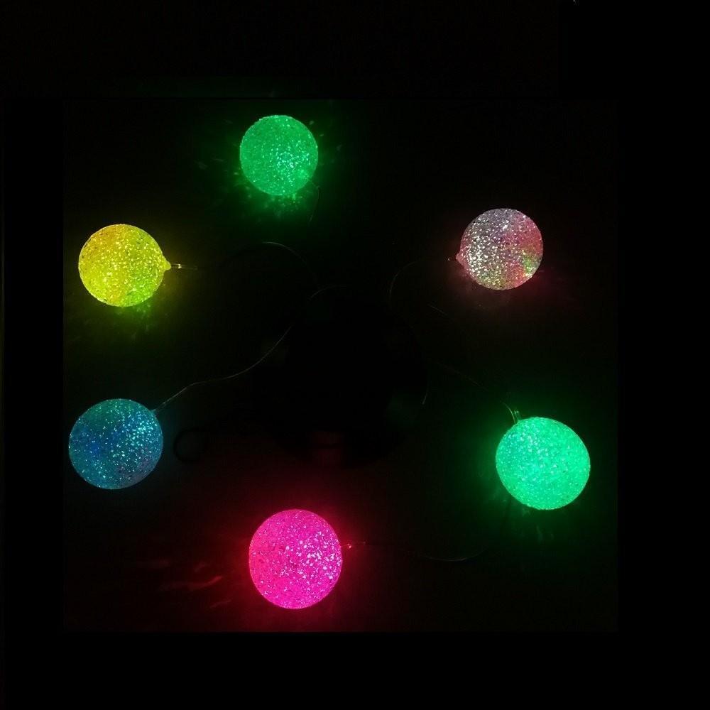 Solar Led Night Light Glow Rainbow Ball