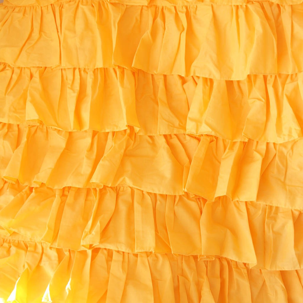 Yellow Waterfall Ruffle Bedding Set