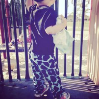 Shirt: Old Navy | Pants: his nanny made them for him | shoes: DC
