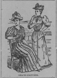 1892 Antique Ladies Dress