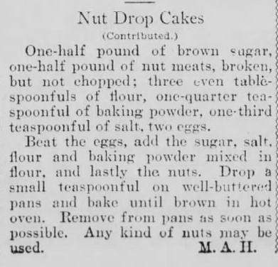 1904 Mar 6 - Boston Post - Nut Drop Cakes