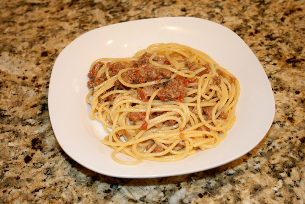 Hamburger Steak and Spaghetti