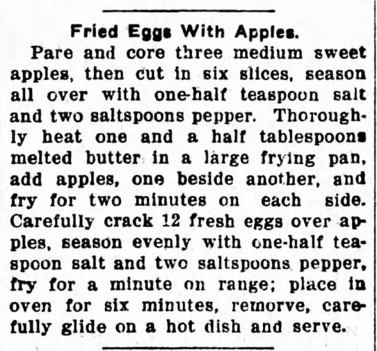 Fried Eggs With Apples