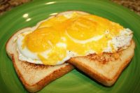 Fried Eggs With Cheese