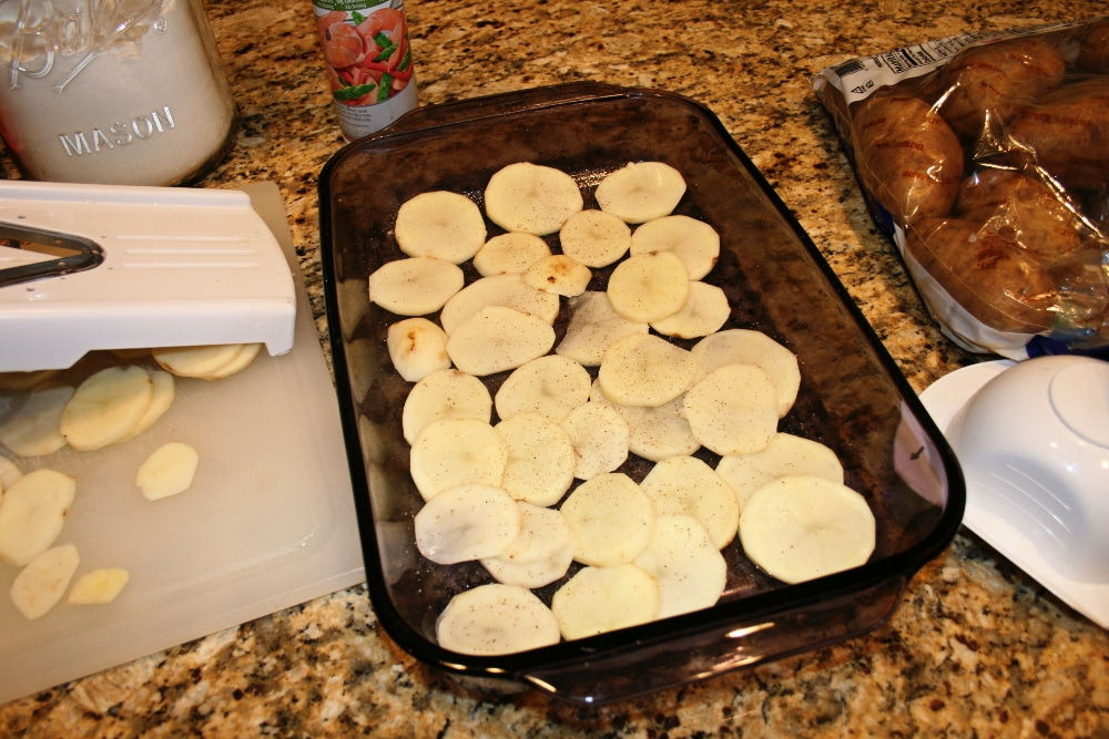 Mrs Houks Scalloped Potatoes and Pork Chop