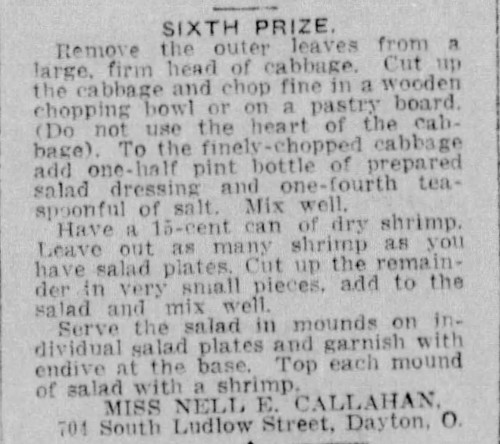 Miss Callahan's Shrimp Salad Recipe
