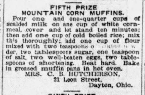 Mrs. Hutcherson's Mountain Corn Muffins